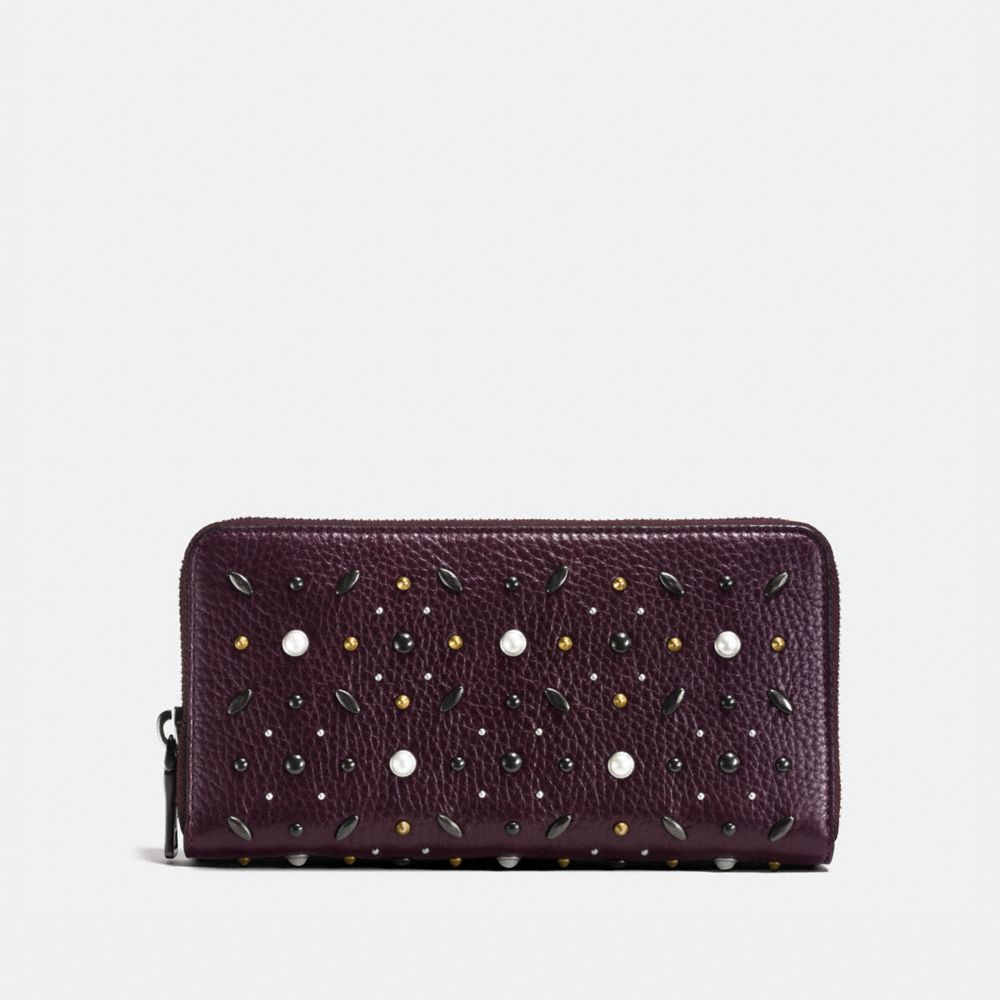 Coach Accordion Zip Wallet With Prairie Rivets