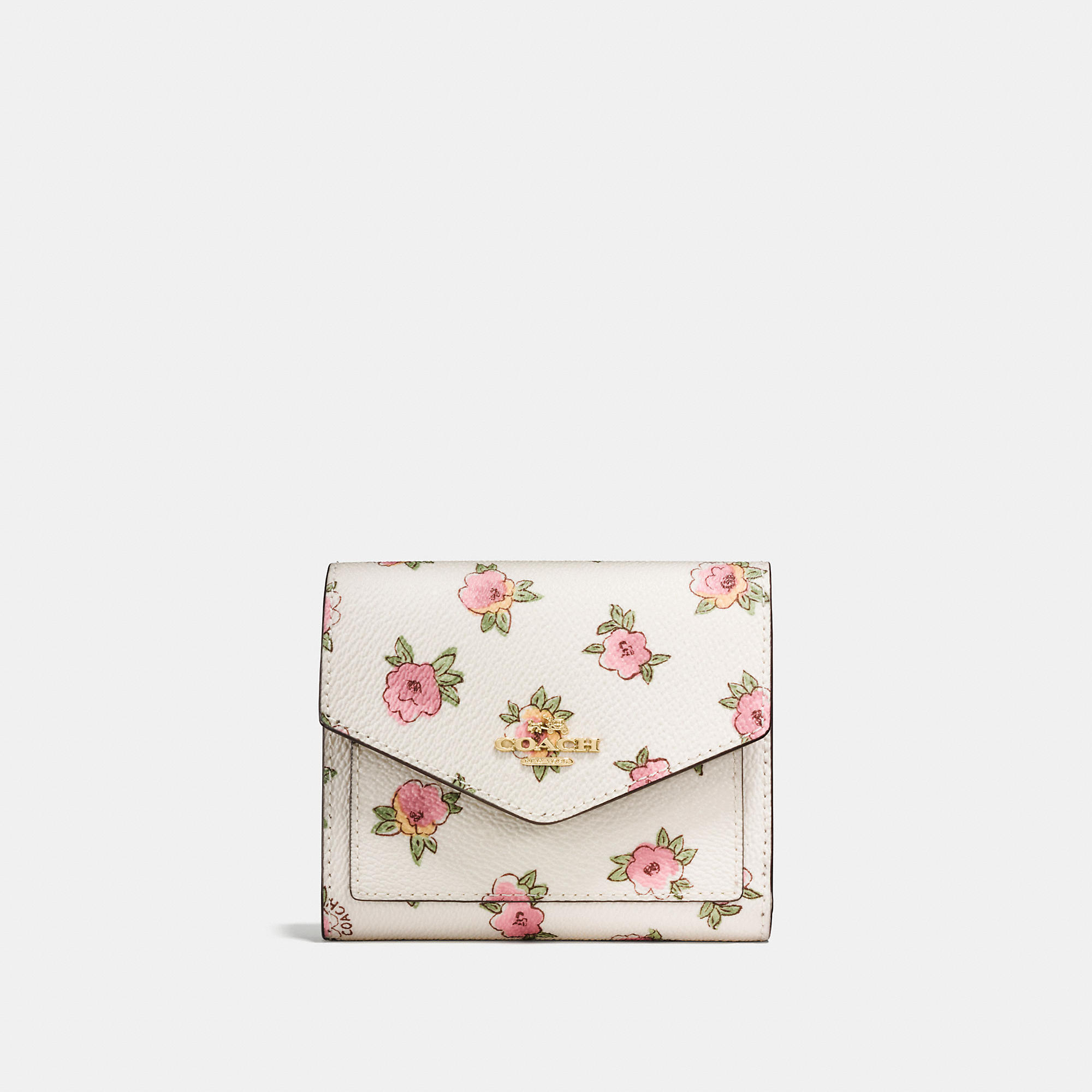 Coach Small Wallet In Flower Patch Print Coated Canvas
