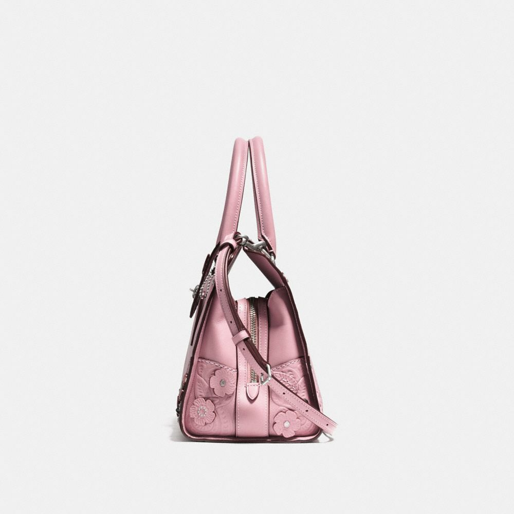 Coach Mercer Satchel 30 With Tea Rose and Tooling Alternate View 1