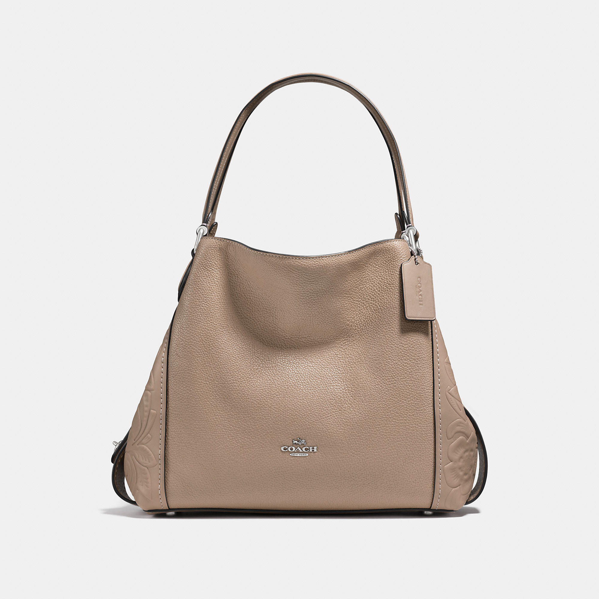 Coach Edie Shoulder Bag 31 In Glovetanned Leather With Tea Rose Tooling