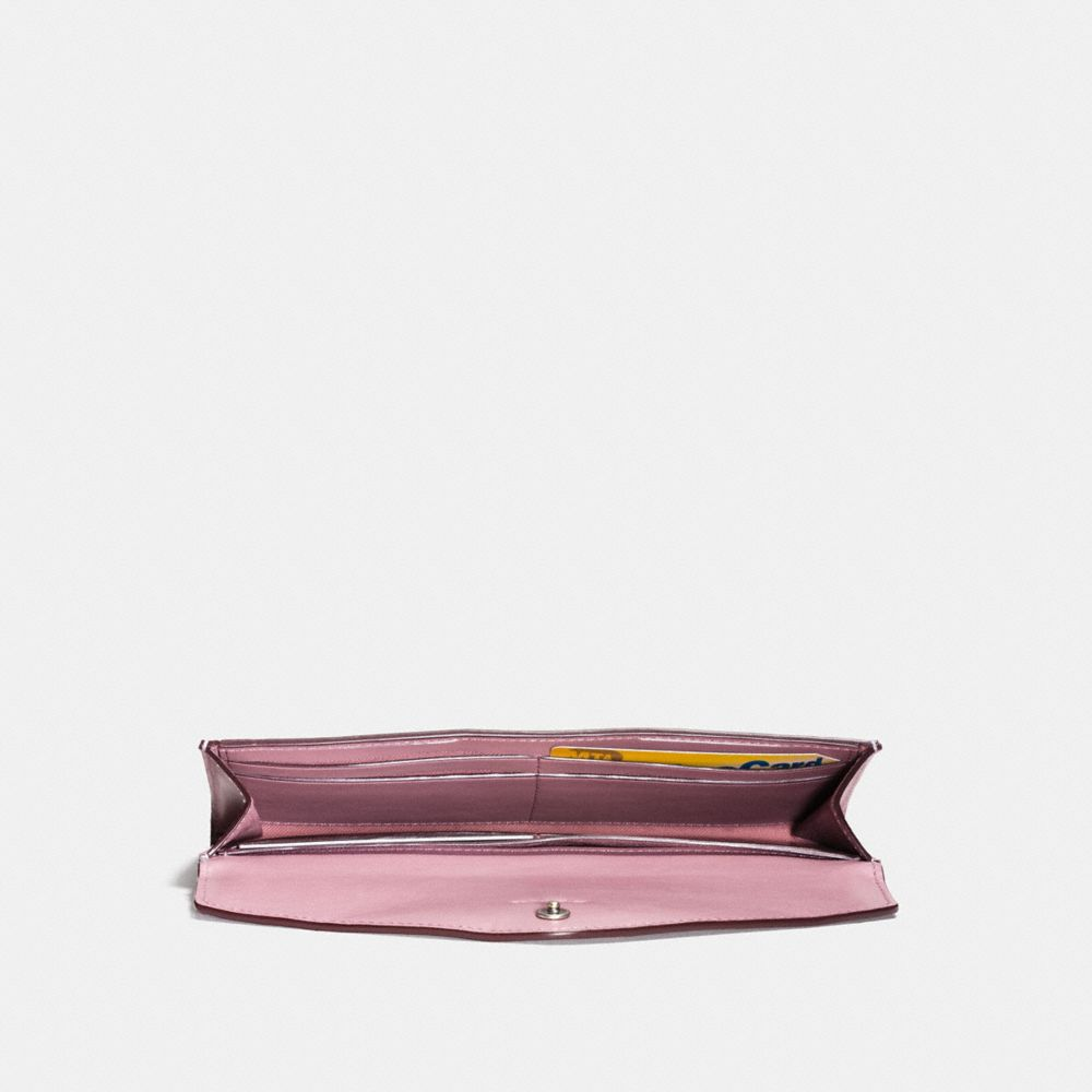 Coach Soft Wallet With Tea Rose Tooling Alternate View 1