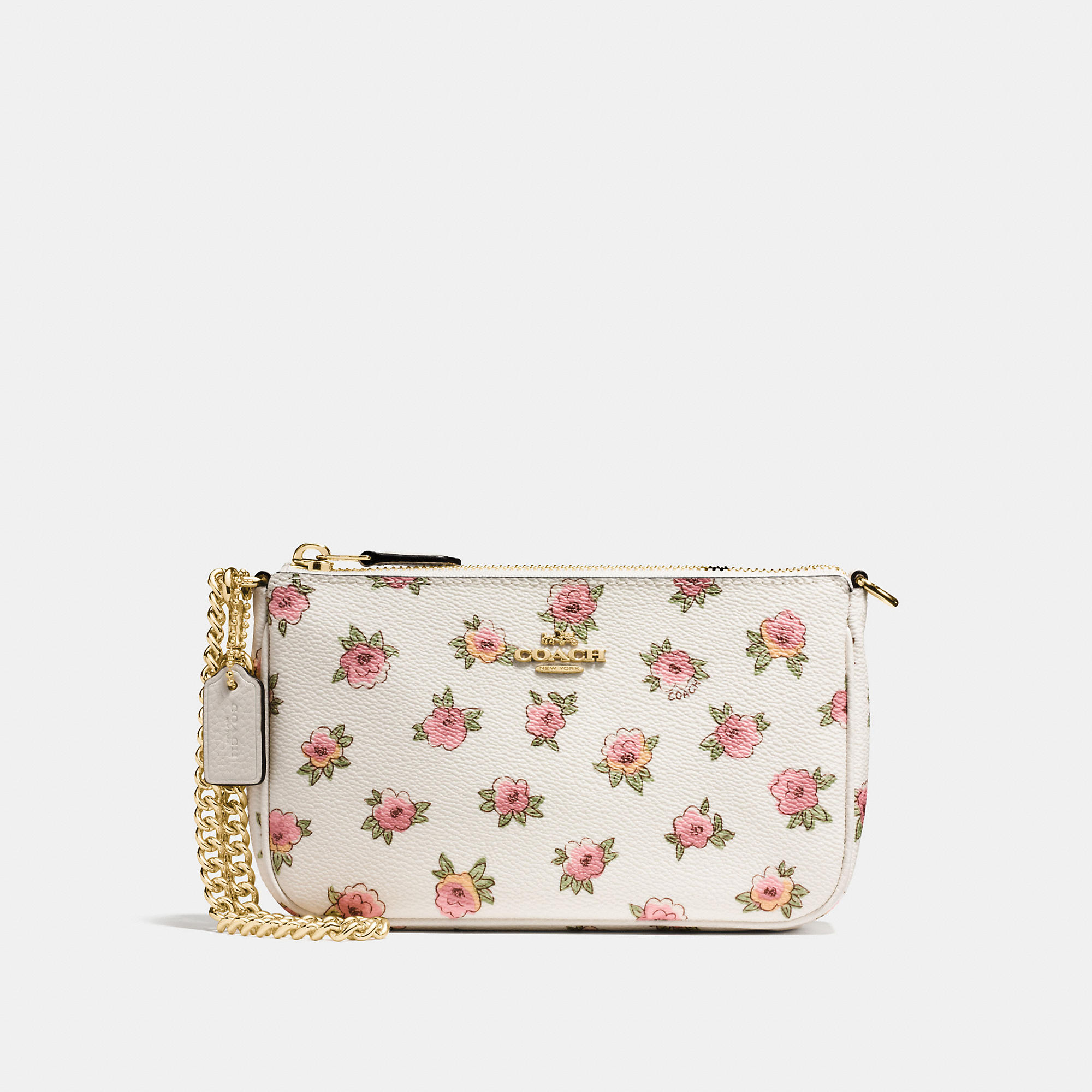 Coach Nolita Wristlet 19 In Floral Patch Print Coated Canvas