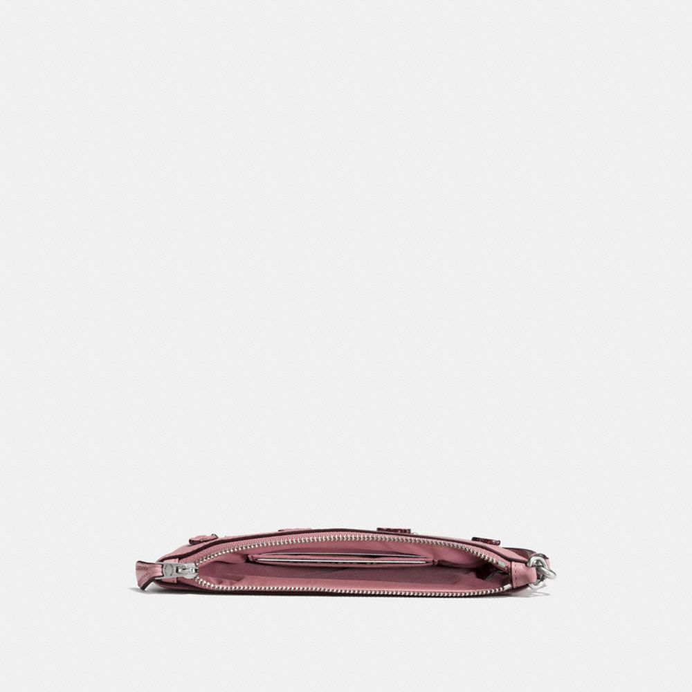 Coach Small Wristlet With Tea Rose and Tooling Alternate View 1