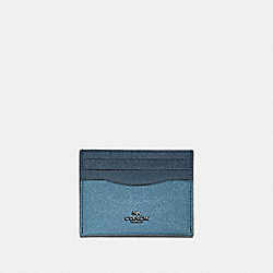 CARD CASE IN COLORBLOCK - SLATE MULTI/GUNMETAL - COACH 12070