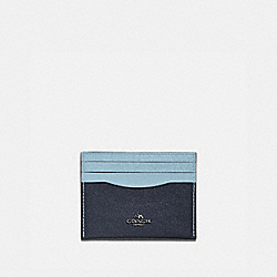 CARD CASE IN COLORBLOCK - V5/MIDNIGHT NAVY MULTI - COACH 12070
