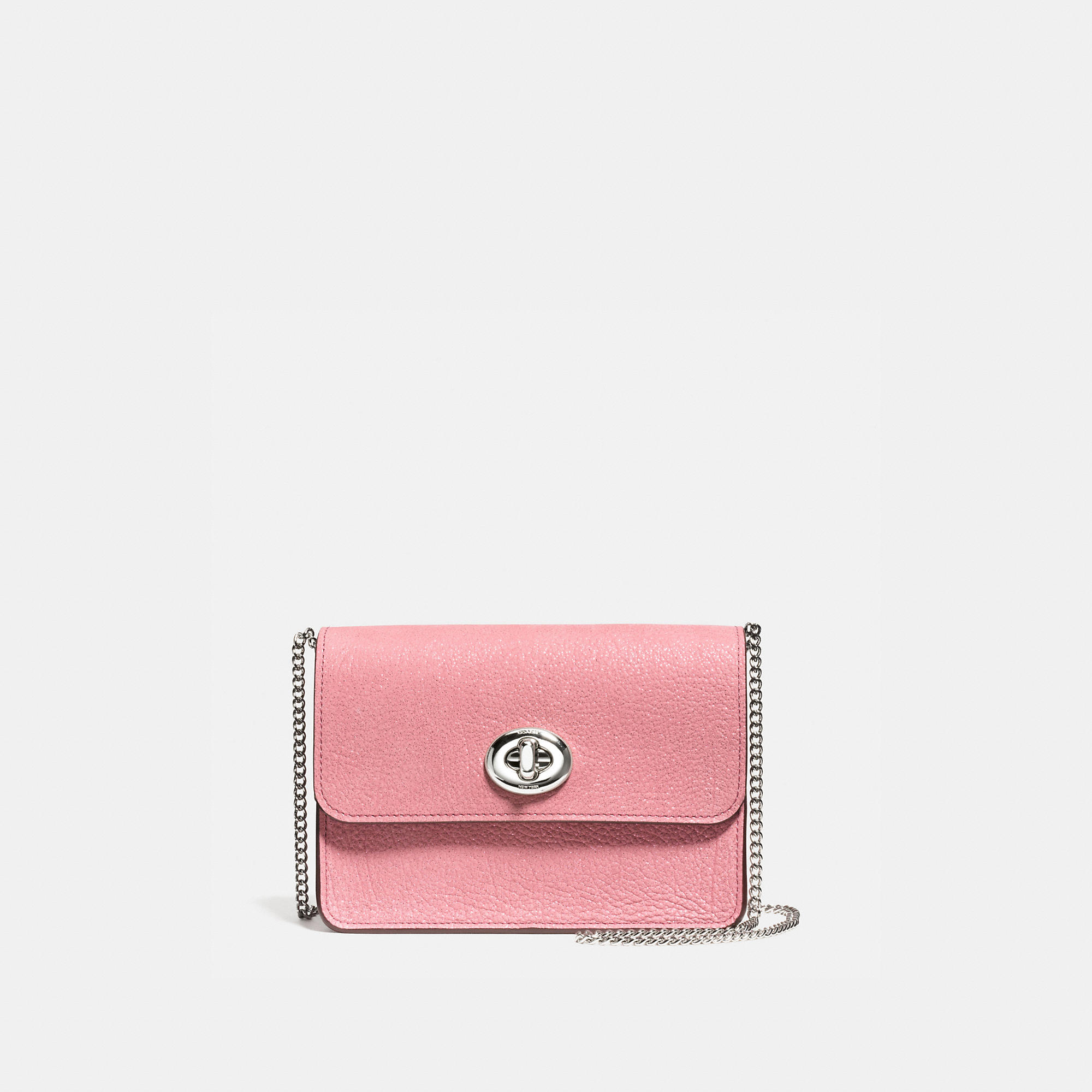 Coach Bowery Crossbody In Glitter Rose Grain Leather
