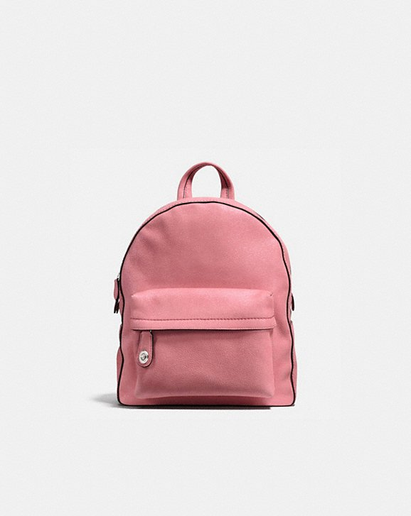 CAMPUS BACKPACK IN GLITTER ROSE POLISHED PEBBLE LEATHER