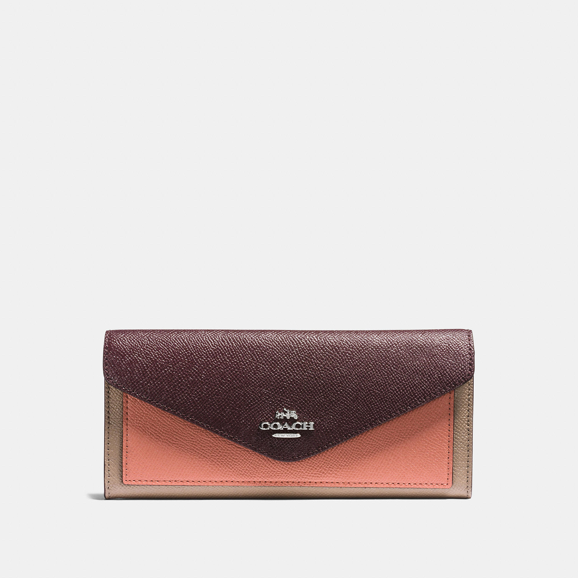 Coach Soft Wallet In Colorblock Leather