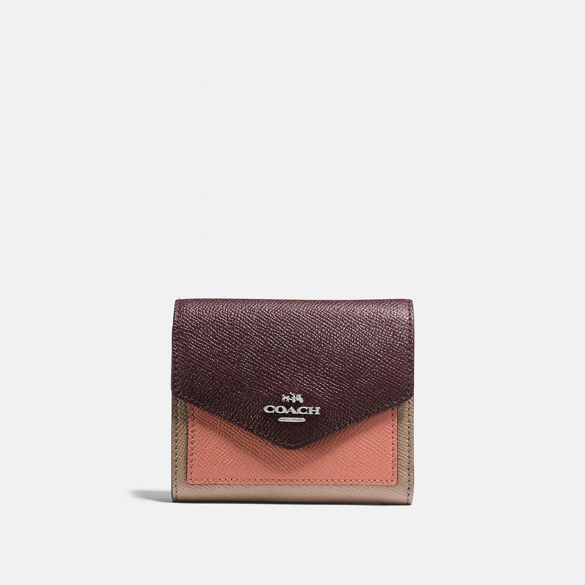 Coach Small Wallet In Colorblock Leather
