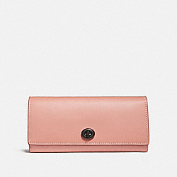 ENVELOPE WALLET - DARK BLUSH/BLACK COPPER - COACH 12134