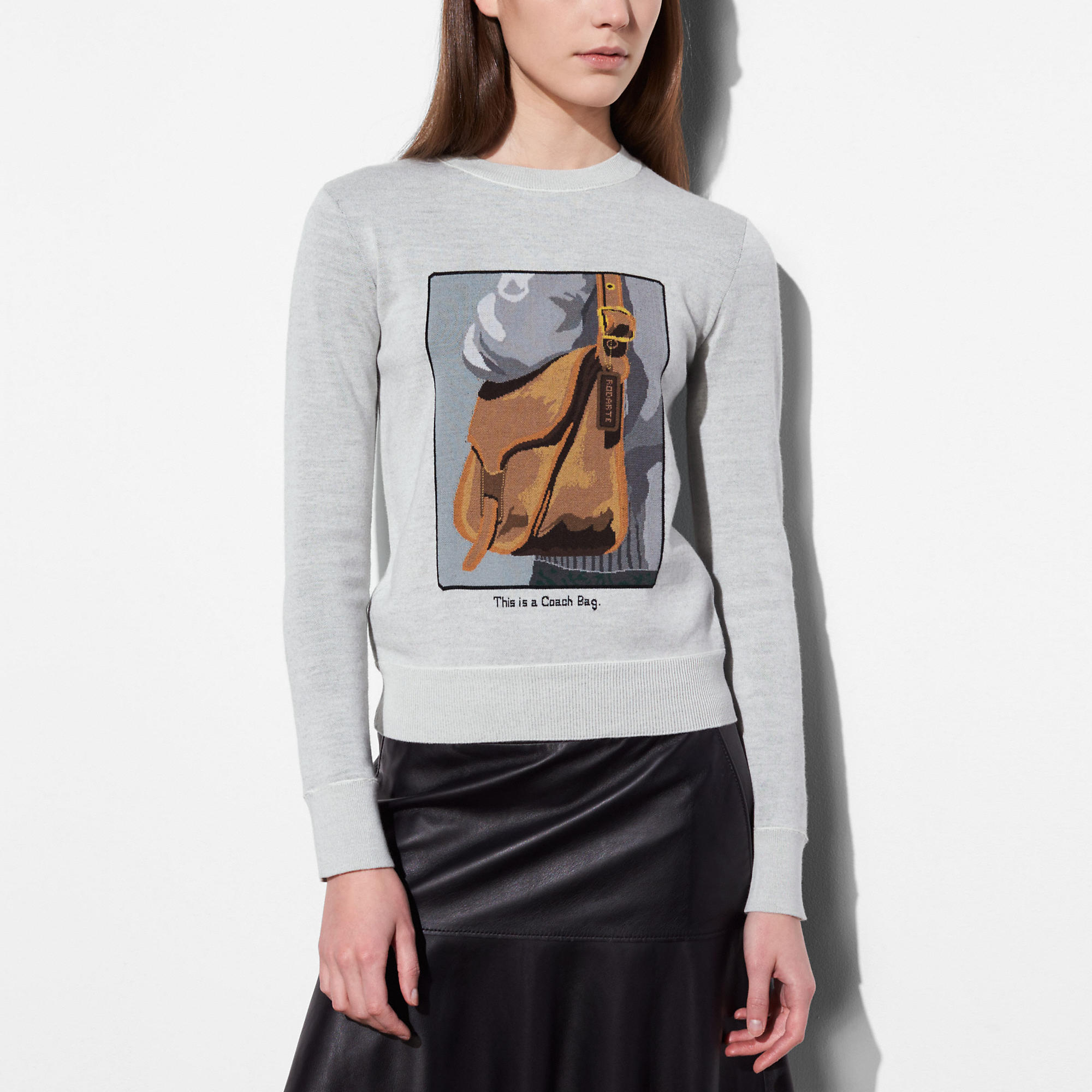Coach Crewneck With Archive Intarsia