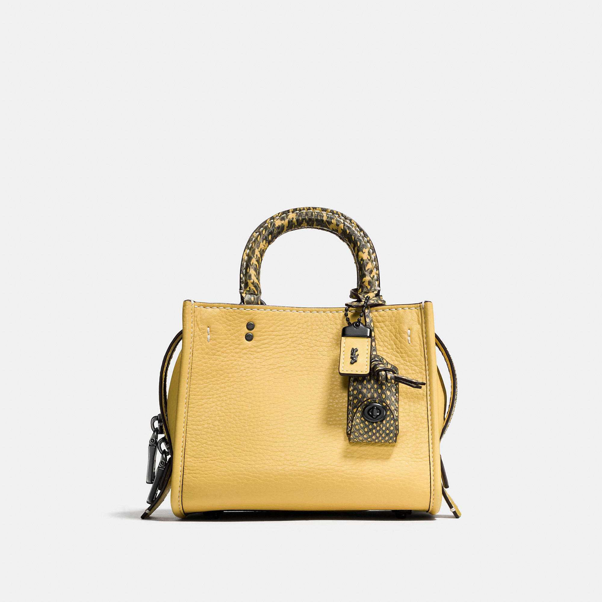 Coach Rogue 17 In Colorblock Leather With Snake Details