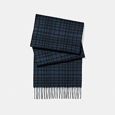 狂野格紋毛呢圍巾