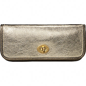 Coach Official Site - LILA LEATHER CLUTCH :  coach gold clutch clutch metallic clutch