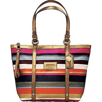 Coach Official Site - COACH LEGACY STRIPE TOTE from coach.com