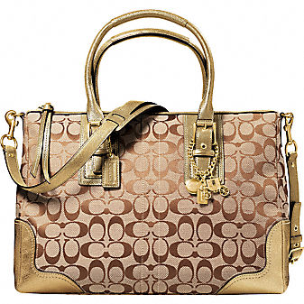 Coach Official Site - HAMPTONS SIGNATURE SATCHEL from coach.com