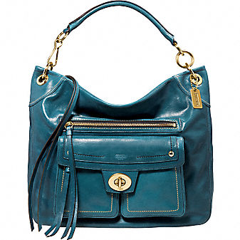 Coach Official Site - HAMPTONS VINTAGE LEATHER HOBO :  bags
