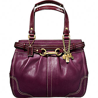 Coach Official Site - HAMPTONS LEATHER CARRYALL :  bags