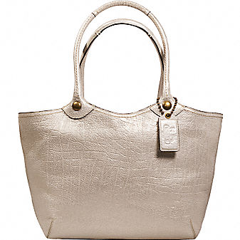 Coach Official Site - BLEECKER METALLIC TOTE from coach.com