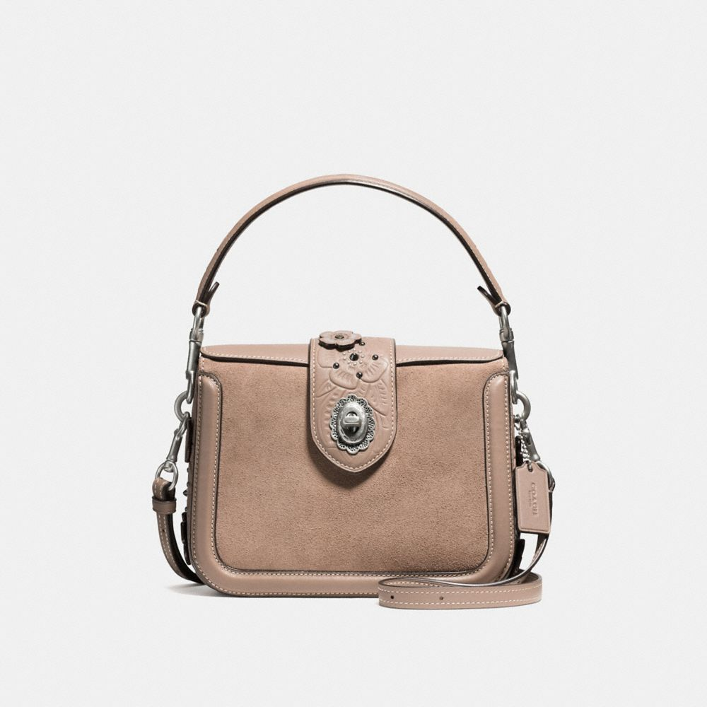 Coach Page Crossbody With Painted Tea Rose Tooling