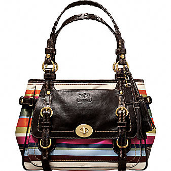 Coach Official Site - COACH LEGACY STRIPE TOTE