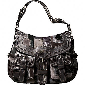 Coach Official Site - COACH LEGACY PIECED LEATHER FLAP HOBO :  patchwork bag flap designer fashion coach