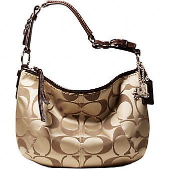 Coach Official Site - COACH SOHO SIGNATURE HOBO :  coach