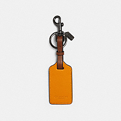 LUGGAGE TAG IN COLORBLOCK - QB/TUMERIC REDWOOD - COACH 1274