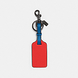 LUGGAGE TAG IN COLORBLOCK - QB/MIAMI RED BLUE JAY - COACH 1274