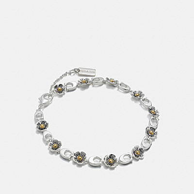 STERLING SILVER DITSY WILLOW FLORAL BRACELET