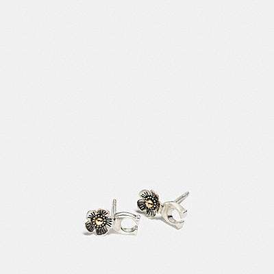 STERLING SILVER SIGNATURE WILLOW FLORAL EARRING