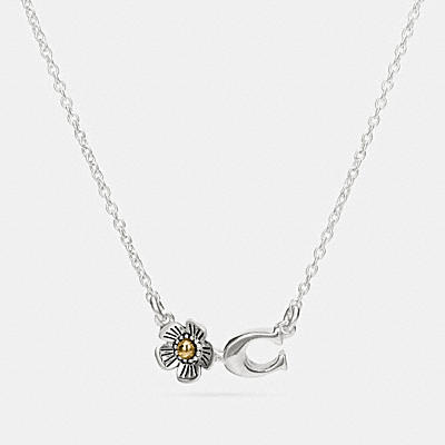 STERLING SILVER SIGNATURE WILLOW FLORAL NECKLACE