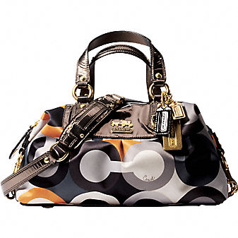 Coach Official Site - GRAPHIC OP ART SABRINA :  art coach wristlets purses