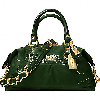 Coach Official Site - PATENT SABRINA :  patent sabrina bag patent leather satchel