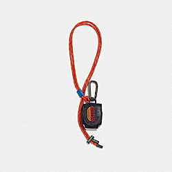 WIRELESS EARBUD CASE IN SIGNATURE CANVAS WITH COACH PATCH - CHARCOAL SIGNATURE MULTI - COACH 1295