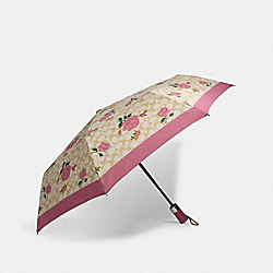 UMBRELLA IN SIGNATURE PRAIRIE PRINT - SV/LIGHT KHAKI/PINK - COACH 1308