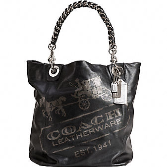 Coach Official Site - MADISON 1 POINT HORSE AND CARRIAGE PRINT TOTE from coach.com