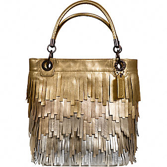 Coach Official Site - MADISON METALLIC FRINGE TOTE :  wallets metallic shoes leather goods