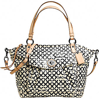Coach Official Site - COATED CANVAS LEAH TOTE :  shoes wallets coach wristlets