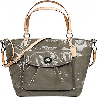 Coach Official Site - PATENT LARGE LEAH TOTE :  wallets bags shoes leather goods