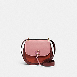 REMI SADDLE BAG IN COLORBLOCK - IM/ROSE MULTI - COACH 1330