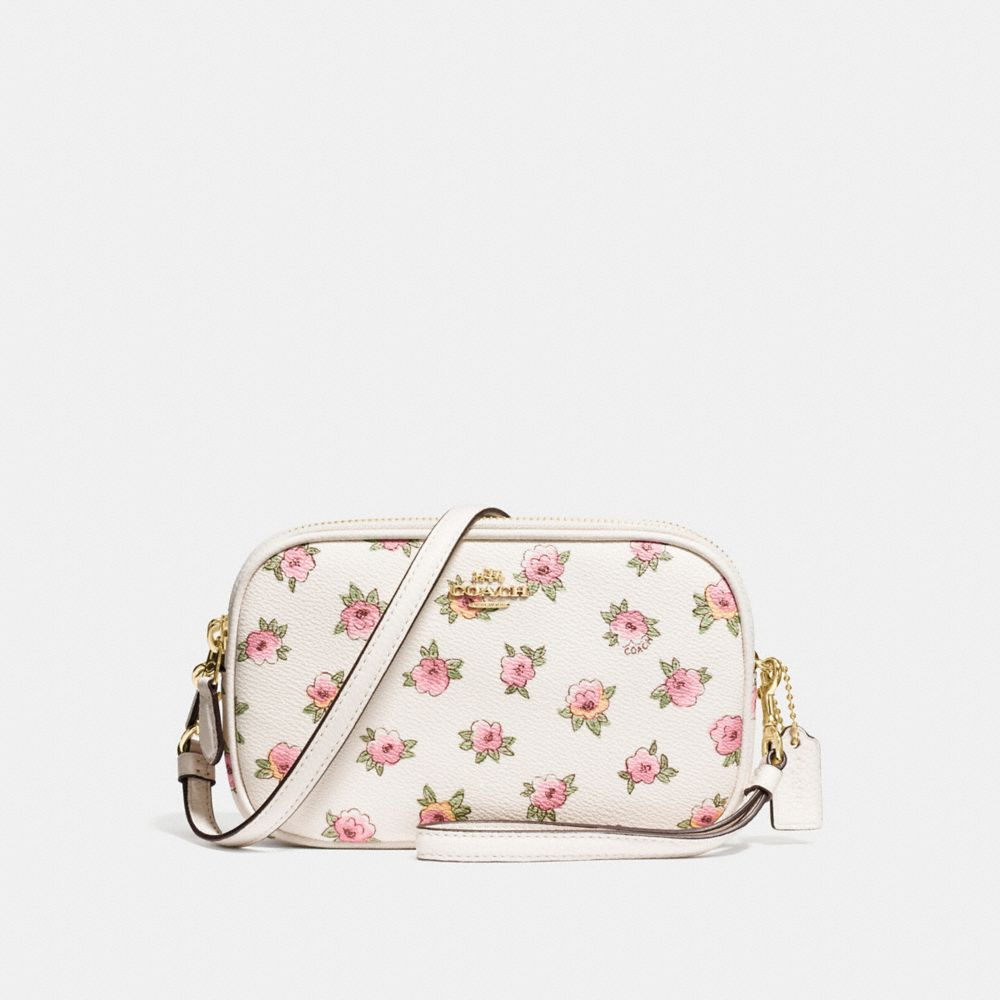 CROSSBODY CLUTCH WITH FLOWER PATCH PRINT