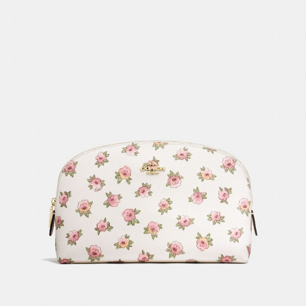 COSMETIC CASE 22 WITH FLOWER PATCH PRINT