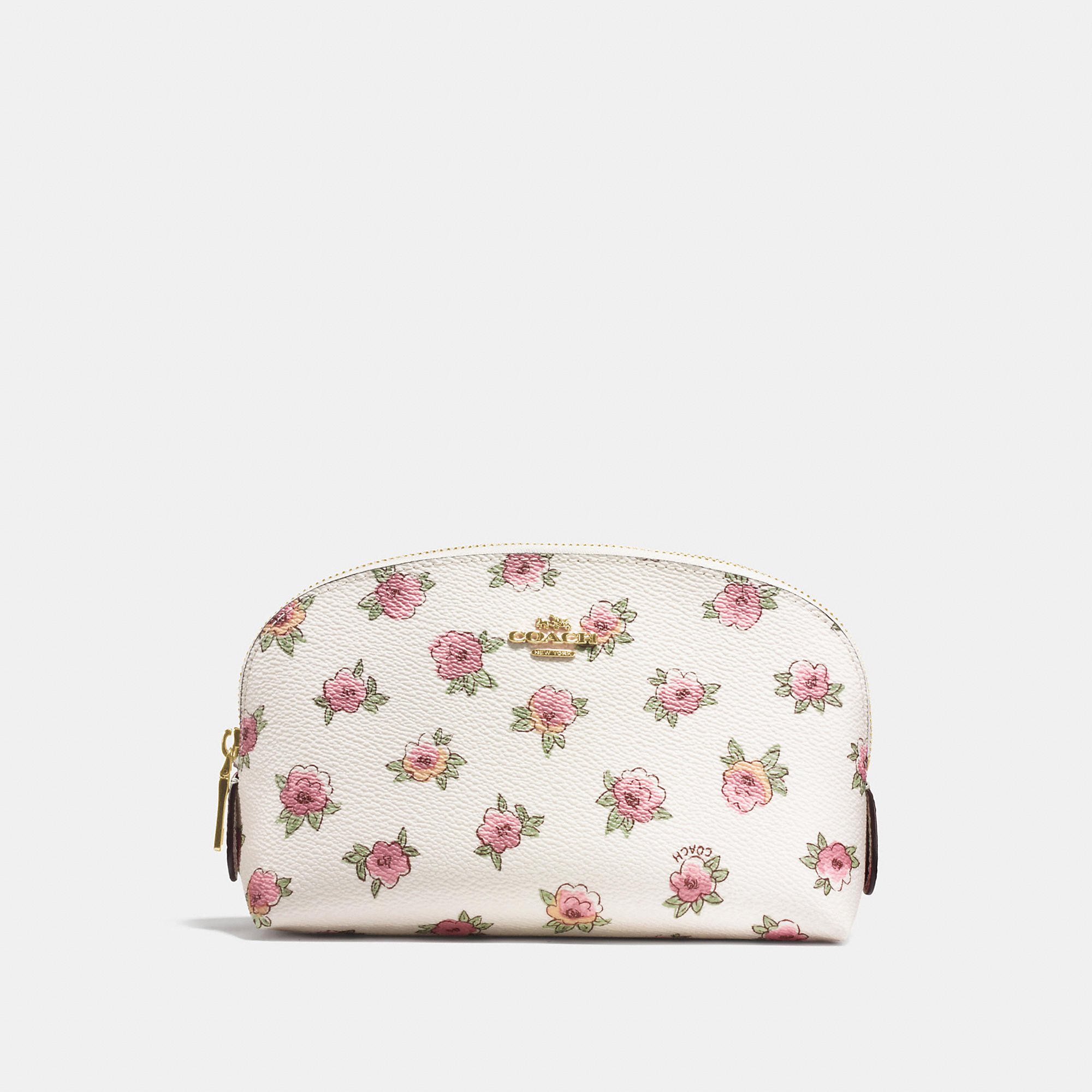 Coach Cosmetic Case 17 In Floral Patch Print Coated Canvas