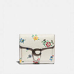 TABBY SMALL WALLET WITH WILDFLOWER PRINT - V5/CHALK - COACH 1364