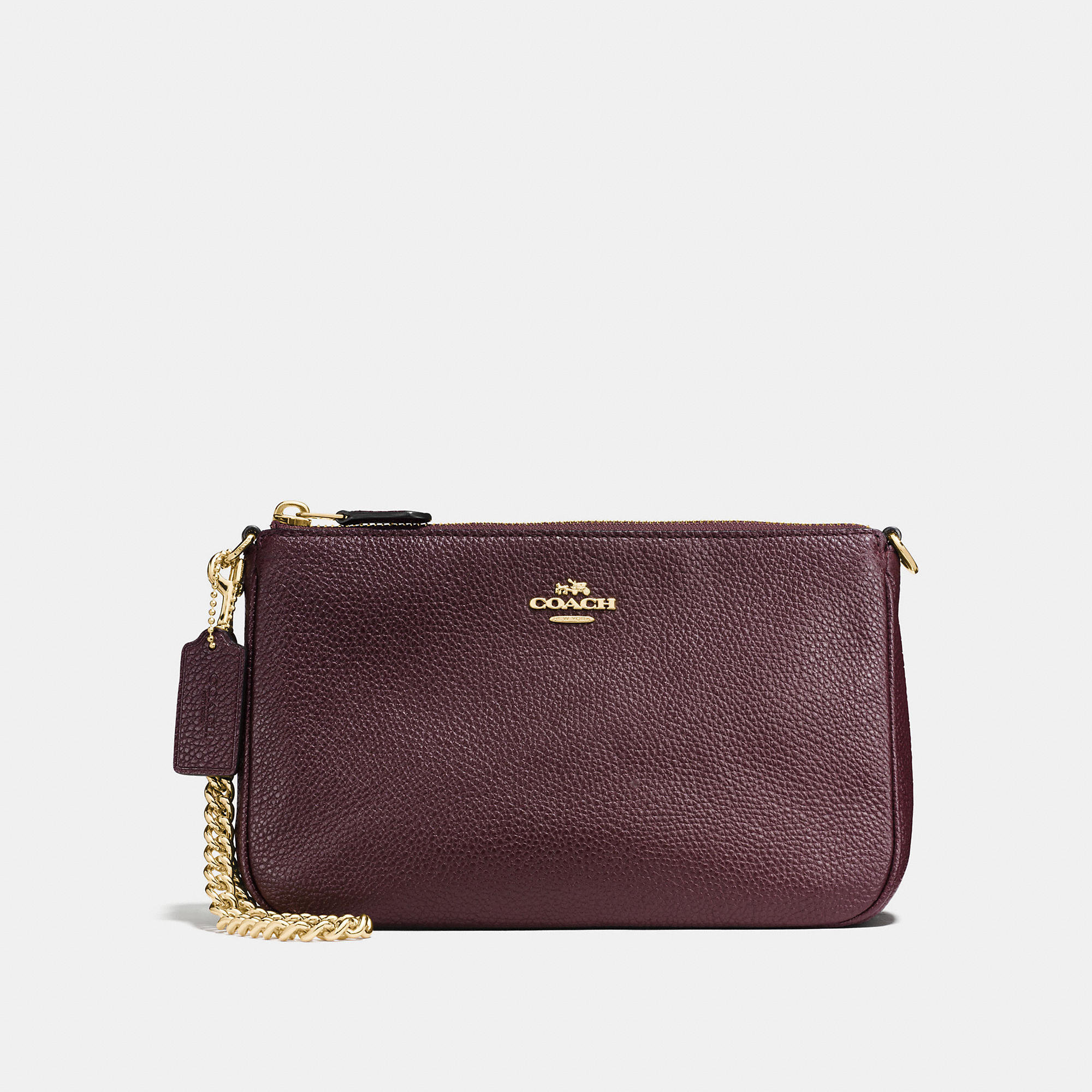 Coach Nolita Wristlet 22 In Polished Pebble Leather