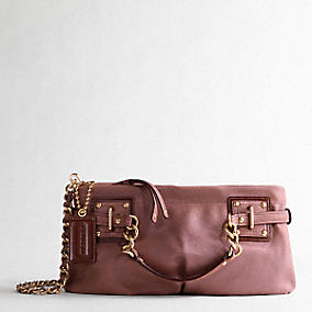 Coach BROOKE DUSTED SUEDE CLUTCH :  suede clutch suede leather coach