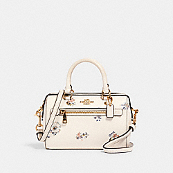 MICRO ROWAN CROSSBODY WITH DANDELION FLORAL PRINT - IM/CHALK/ BLUE MULTI - COACH 1495
