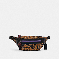VALE BELT BAG IN SIGNATURE CANVAS WITH REXY BY GUANG YU - QB/KHAKI BLACK MULTI - COACH 1507