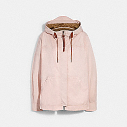 SOLID SHORT JACKET WITH SIGNATURE - ORCHID - COACH 1512